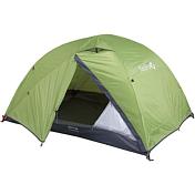 ПалаткаПалатки<br>Двухслойная палатка для семейного отдыха и туризма<br> <br> -прочна и ветроустойчива<br> -легко устанавлмвается<br> -внутреннюю палатку можно ставить отдельно<br> -два входа с притивомоскитными сетками<br> -два тамбура<br> -окна на молнии<br> -Материал:<br> &amp;nbsp;ТЕНТ: Polyester 190T W/R PU 7000<br> &amp;nbsp;ПАЛАТКА: Polyester 190T W/R BR<br> &amp;nbsp;ДНО: Nylon 190T W/R PU 9000<br> &amp;nbsp;СТОЙКИ: Алюминий 7001-Т6, d 14/10<br> -вес 4,15 кг<br> -размеры(60*2+225)х225х135 см<br>