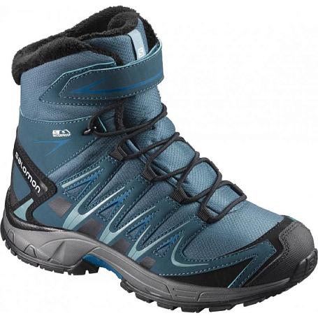 Купить Ботинки городские (средние) SALOMON 2017-18 XA PRO 3D WINTER TS CSWP J Mallard Blue/Reflecting Pond/Mykonos Blue, Обувь для города, 1350847