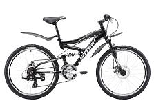 ВелосипедПодростковые (колеса 24)<br>Двухподвес для детей в возрасте 9 до 12 лет, рост 130-155 см<br> <br> Особенности:<br> <br> - два амортизатора<br> - легкая алюминиевая рама с универсальной геометрией&amp;nbsp;<br> - мощные дисковые тормоза и покрышки Wanda с хорошим сцеплением позволят подростку чувствовать себя максимально комфортно на любой трассе<br> <br> <br> Технические характеристики:<br> <br> Рама: AL-6061 junior FS<br> Размер рамы: one size<br> Вилка: Stark suspension DISC<br> Тип вилки: пружинно-эластомерная<br> Диаметр колес: 24<br> Кол-во скоростей: 21<br> Переключатель задний: Shimano RD-TY300<br> Переключатель передний: Shimano RD-TY300<br> Шифтеры: Shimano SL-RS35 REVOSHIFT<br> Тип тормозов: дисковые механические<br> Тормоза: DISC<br> Система: 42/34/24<br> Кассета: 7-SPEED 14-28T<br> Покрышки: WANDA 24*1,95<br> <br> <br> Рекомендуемые аксессуары: