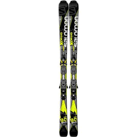 Купить Горные лыжи с креплениями SALOMON 2014-15 X-SERIES K X-Drive 80 SG + KZ10 B80 BLACK/YE 1141143