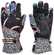 Перчатки горные Roxy 2020-21 Jetty se gloves j True black pop flowers