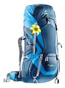 РюкзакРюкзаки туристические<br>Туристический рюкзак, приспособленный для переноски тяжелых грузов<br> <br> -Новая система Vari Flex с полной регулировкой<br> -Набедренный пояс с пряжкой Pull-forward<br> -Быстрый доступ к содержимому через переднюю молнию в форме полумесяца<br> -Внутренний компрессионный ремень<br> -Компрессионные ремни наверху рюкзака и на верхнем клапане для стабильности и большей свободы движения головы<br> -Карман на молнии для небольших ценных вещей на набедренном поясе<br> -Ярлык SOS<br> -Компрессионные ремни на три стороны<br> -Боковые складчатые карманы для размещения добавочного багажа или питьевой системы Streamer<br> -Внешние карманы для колышек от палатки<br> -Большие боковые карманы в нижней части рюкзака<br> -Удобные ремешки и карман на молнии для карты в передней части рюкзака<br> -Съёмный верхний клапан, благодаря дополнительным ремням и крепёжным кольцам, можно быстро превратить в небольшой рюкзачок. Он снабжён внутренним отделением, с карманом на молнии и двумя внутренними карманами для небольших ценных вещей<br> -Чехол от дождя в комплекте<br> -Материал: Deuter-Duratex<br> -Вес: 2900 грамм.<br> -Объём 55+15+8 (боковые карманы) литров.<br> -Размеры: 85x34x32 см.