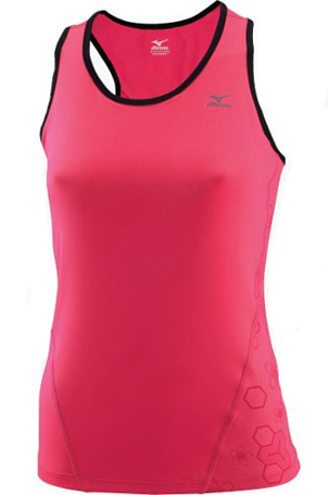 Купить Топ беговой Mizuno 2013 DryLite Support Top Rouge Red/Black Одежда для бега и фитнеса 901899