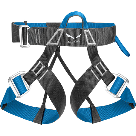 Купить Обвязка Salewa Hardware VIA FERRATA EVO harness ( M/XXL ) CARBON/ POLAR BLUE / Страховочные системы (обвязки) 1167288