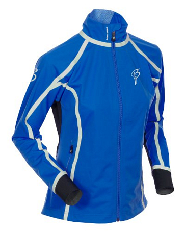 Куртка беговая Bjorn Daehlie Jacket OLYMPIC Women Skydiver/Black/Silver (синий/черный)