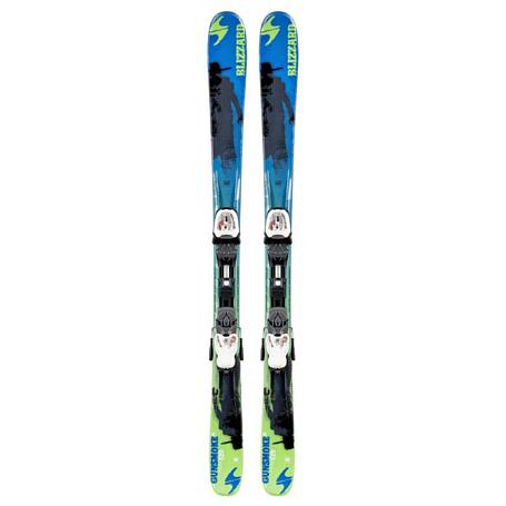 Купить Горные лыжи с креплениями Blizzard 2014-15 Junior GUNSMOKE IQ JR+IQ-4.5(99-109) BLUE-GREEN-BLACK 1119687