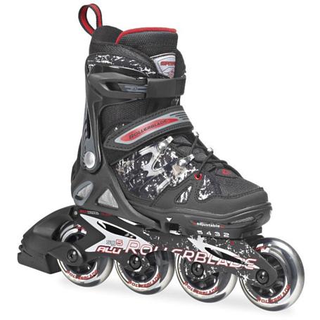 Купить Роликовые коньки Rollerblade 2014 SPITFIRE ALU BLACK/RED Ролики детские 1076126