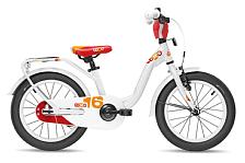 ВелосипедДо 6 лет (колеса 12-18)<br>Детский велосипед для девочек, рассчитан на рост от 100см и приблизительный возраст 3 года. . Продуманная заниженная геометрия алюминиевой рамы позволит ребёнку комфортно сесть или безопасно соскочить во время катания, избежав возможности травмироваться.<br> <br> Особенности:<br> <br> - регулировка руля и сидения по высоте и наклону, наличие защиты цепи, подножки и крыльев<br> - дополнительные колеса и звонок в комплекте<br> <br> <br> Технические характеристики:<br> <br> Рама: SCool Junior LE 16 alloy<br> Вилка: HiTen<br> Диаметр колес: 16&amp;nbsp;<br> Кол-во скоростей: 1<br> Переключатель задний: -<br> Переключатель передний: -<br> Шифтеры: -<br> Тип тормозов: ножной<br> Тормоза: V-Brake&amp;nbsp;<br> Кассета: 16 T<br> Система: SOFOH 32 T, 114 mm, black<br> Покрышки: SCool Speedster 16x2,00 Ballo Reflex Logo<br> Вес: 9,8 кг