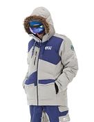 Куртка сноубордическаяОдежда сноубордическая<br>Куртка для катания на сноубордеВлагозащитные молнии YKKВсе швы проклееныКапюшон со съемным мехомСнежная юбка и система крепления куртки с брюкамиКарманы для ски-паса и мелочейВентиляционные молнииМатериал: 40% переработанный полиэстер, 60% полиэстерУтеплитель: гусиный пухDWR обработка для защиты от влаги<br><br>Пол: Мужской<br>Возраст: Взрослый<br>Вид: куртка