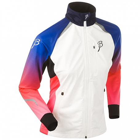 Купить Куртка беговая Bjorn Daehlie JACKET/PANTS Jacket DEFEAT Women Blue/Red/Pink Fading (Синий/Красный) Одежда лыжная 1102761
