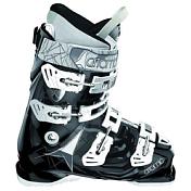 Горнолыжные ботинкиГорнoлыжные ботинки<br>Лыжницам,которым нужна четкая обратная связь с лыжами.<br>Двухкомпонентный внешний ботинок с вставками i-flex и пружиной energy spring, ось подошвы смещена на 1 мм, 3 градуса разворот&amp;nbsp;&amp;nbsp;оси подошвы, угол наклона вперед&amp;nbsp;&amp;nbsp;16 градусов.<br><br>Жесткость ботинка:80.<br>Ширина колодки &amp;#40;мм&amp;#41;: 100. <br>Технология:Ремень 45 мм, клипсы алюминиевые, внутренний ботинок ASY Sport T1 &amp;#43; Clima Foam.<br>Учет женской анатомии: сниженная высота манжеты и внутренний ботинок специально разработанный для женщин.<br><br><br>Пол: Женский<br>Возраст: Взрослый