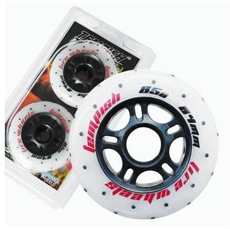 Купить Комплект колёс для роликов TEMPISH FUNNY FIRE wheels 85A 84x24 mm (1*2pcs) Белый, Аксессуары роликов, 1254573