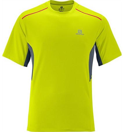 Купить Футболка беговая SALOMON 2014 START TEE M GECKOGREEN/DARKCL, Одежда для бега и фитнеса, 1133595