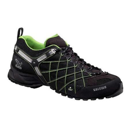 Купить Треккинговые кроссовки Salewa Tech Approach Mens MS WILD FIRE GTX black - emerald Треккинговая обувь 896499