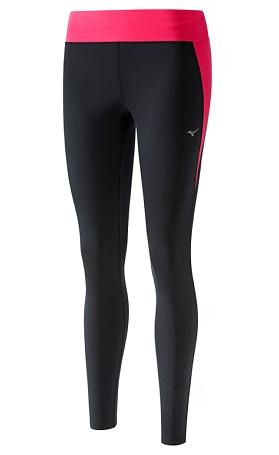 Купить Тайтсы беговые Mizuno 2017 Premium Aero Long Tights чер/роз Одежда для бега и фитнеса 1334686