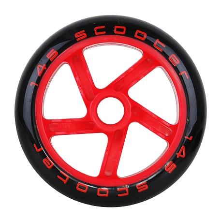 Купить Колесо для самоката TEMPISH 2016 wheels 145x30 mm PU 87A Чёрный/красный, Колеса самокатов, 1179677