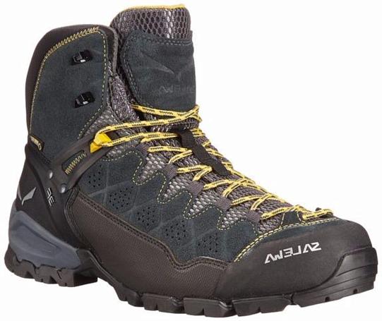 Купить Ботинки для хайкинга (низкие) Salewa 2017-18 MS ALP TRAINER MID GTX Carbon/Ringlo Треккинговая обувь 1205567