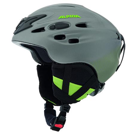 Купить Зимний Шлем Alpina ALL MOUNTAIN SCARA titanium-green silk matt, Шлемы для горных лыж/сноубордов, 1131061