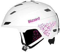 Зимний Шлем BLIZZARD 2019-20 Viva Double White Matt/Transp. Flowers