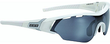 Очки солнцезащитные BBB 2018 Summit Glossy White/Smoke Flash-Mirror MLC+Yellow+Clear Brille