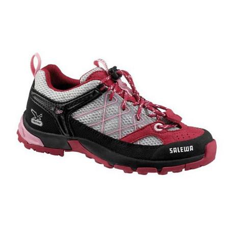 Купить Ботинки для треккинга (низкие) Salewa Junior Approach JUNIOR FIRETAIL silver - azalea Треккинговая обувь 896925