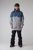 ��������� ��������������� ROMP 2014-15 Compound Tall Hoodie Blue/Gray /