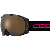 Очки горнолыжные CEBE ORIGINS M Matt Black Pink / Dark Rose Flash Gold Cat.3