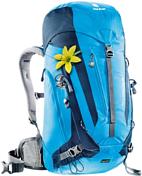 РюкзакРюкзаки универсальные<br>Обновленная модель серии универсальных рюкзаков ACT Trail. Лучший выбор для походов, маршрутов Via ferrata и экскурсий на природе. Малый вес и высокое качество. Удачное сочетание комфорта системы спинки и множества полезных деталей &amp;#40;например, съемный набедренный пояс&amp;#41;. складные сетчатые крылья пояса гибкий U-образный каркас из DerlinR спинка Aircontact Trail для полного контроля распределения нагрузки лямки анатомической формы обшиты сетчатым материалом 3D AirMesh регулируются по длине переднее отделение на молнии для карты и т.п. 2-ходовая молния на фронтальной части обеспечивает доступ к грузу при закрытом клапане прочная, дышащая подкладка AirMesh карман в клапане, внутренний карман для мелочей, карман на молнии и эластичный карман сбоку отделение для влажной одежды крепление для телескопических палок и ледоруба петли для крепления шлема SOS лейбл съемный чехол от дождя совместимость с питьевой системой &amp;#40;3л&amp;#41; подходит для людей невысокого ростаВес: 1140 г Объем: 28л Размеры: 60 х 28 х 21 см Материал: 50: полиэстер, 50% нейлон. Deuter-Microrip-Nylon. Deuter-Super-Polytex.<br><br>Пол: Женский<br>Возраст: Взрослый