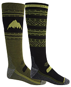 Носки BURTON 2020-21 Performance Lightweight Sock 2-Pack True Black/Martini Olive