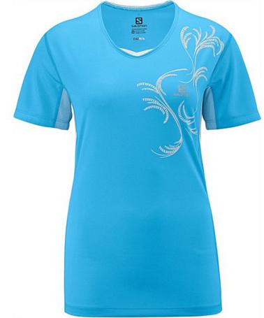 Купить Футболка беговая SALOMON 2014 START TEE W SCOREBLUE, Одежда для бега и фитнеса, 1133599