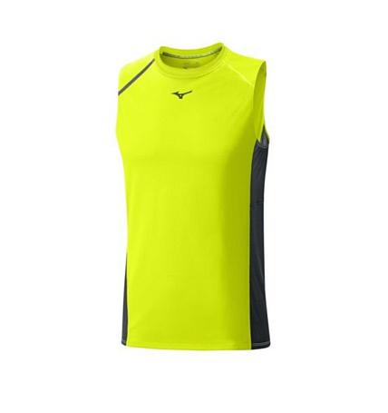 Купить Майка беговая Mizuno 2016 Premium Aero Sleeveless жёлтый Одежда для бега и фитнеса 1264798