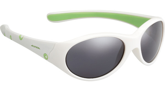 Купить Очки солнцезащитные Alpina JUNIOR / KIDS Flexxy Girl white-green/black mirror S3 1131868