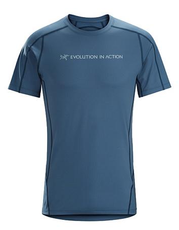 Купить Футболка для активного отдыха Arcteryx 2017 Phasic Evolution Crew SS Mens Cosmic, Одежда туристическая, 1327698