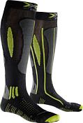 НоскиНоски<br>Носки X-Bionic Effektor Ski Advance - высокотехнологичные носки для тех, кто готовится к высоким результатам. Амортизирующая пятка помогает смягчать удары при беге. Особые вставки вокруг голеностопа оказывают функцию поддержки лодыжки и ахиллова сухожилия. Специальные воздушные каналы по всей поверхности носков помогают контролировать температуру ног, а уплотнения в области пальцев защитят вас от мозолей и волдырей.<br><br>Ткань SkinNodor®, в волокнах которых присутствуют ионы антибактериального фермента, препятствуют размножению бактерий и нейтрализуют неприятный запах. Обладает хорошей воздухопроницаемостью, износостойкая, эластичная и мягкая на ощупь.<br><br>Многоцелевая ткань Robur™ состоит из полых волокон с герметичной воздушной камерой. Ткань дышащая и эластичный. Защищает от ударных нагрузок и давления. Применяется в зонах, особо подверженных образованию потёртостей и ссадин - ахиллово сухожилие, подошва, голеностопный сустав, голень. Ткань Robur™, сотканная из трёхжильной плетёной нити, чрезвычайно прочная и износостойкая.<br><br>Mythlan™ - ультралёгкий, дышащий материал с микроволокнистой структурой. Легчайший среди высокотехнологичных материалов. Ткань Mythlan™ не накапливает влагу и способствует эффективному процессу её испарения с внешней поверхности. Имеет нейтральное значение pH и гипоаллергенна.