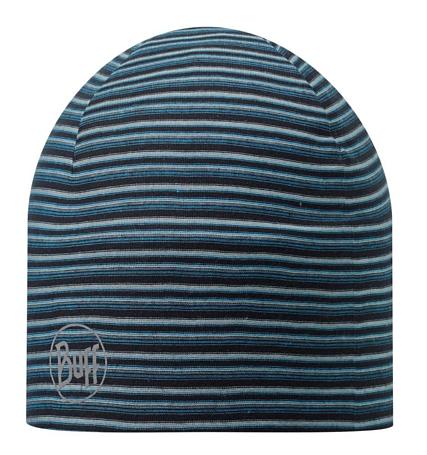 Купить Шапка BUFF MICROFIBER 2 LAYERS HAT STRIPES BLUE Банданы и шарфы Buff ® 1169203