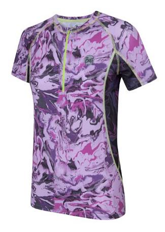 Купить Футболка беговая BUFF S/SL T-SHIRT AMBER (PURPLE) фиолетовый Одежда для бега и фитнеса 882689