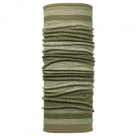 Купить Шарф BUFF Wool Patterned & Dyed Stripes MERINO WOOL KITUE LIGHT MILITARY Банданы и шарфы Buff ® 1263378