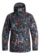 Куртка Сноубордическая Quiksilver 2016-17 Mission Print J M Snjt Bgz7