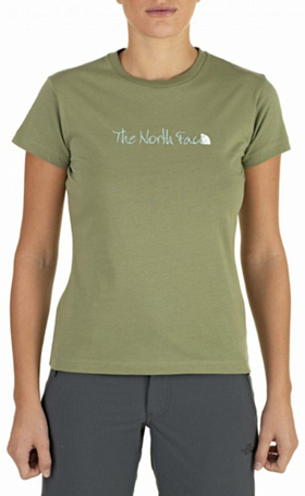 Футболка туристическая THE NORTH FACE 2012 T0AAD0 W S/S EMBROIDERed LOGO TEE (Grecian Green) зеленый