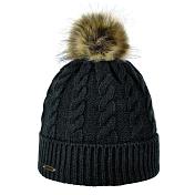 ШапкаГоловные уборы<br>Элегантная шапка с помпоном из натурального меха &amp;#40;енот&amp;#41; для городских условий<br><br>Состав: натуральный мех, акрил