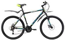 ВелосипедКолеса 26 (стандарт)<br>Горный велосипед любительского уровня<br> <br> Особенности:<br> <br> -легкая рама из алюминия<br> -амортизационная вилка пружинного типа<br> -универсальные покрышки с хорошей проходимостью<br> <br> <br> Технические характеристики:<br> <br> Рама: AL-6061 XC spec<br> Размер рамы: 16, 18, 20<br> Вилка: STARK Suspension Disc<br> Тип вилки: пружинная<br> Диаметр колес: 26<br> Кол-во скоростей: 18<br> Переключатель задний : Shimano RD-TY21<br> Переключатель передний:&amp;nbsp;<br> Шифтеры: Shimano SL-RS35, revoshift<br> Тип тормозов: дисковые механические<br> Тормоза: JAK-5<br> Система: 42/34/24Т<br> Кассета:&amp;nbsp;<br> Покрышки: 26 x 2,125<br> <br> <br> Рекомендуемые аксессуары: