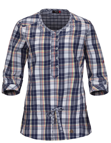 Рубашка для активного отдыха MAIER 2014 Ladies SDP + Casual Winterthur blue/yellow check