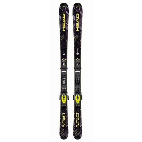 Купить Горные лыжи с креплениями HEAD 2016-17 Strong INSTINCT Ti AB + PR 11 black/neon yellow 1286910