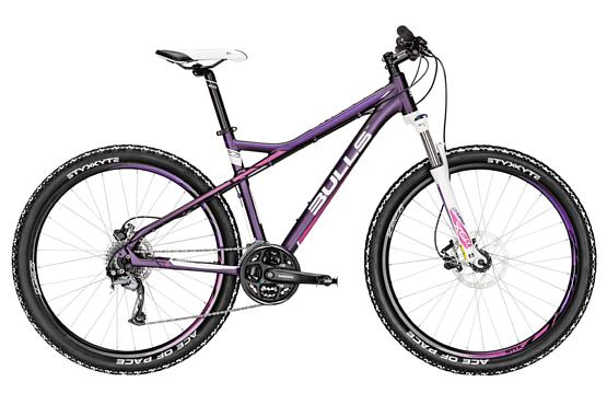 Купить Велосипед Bulls Zarena 27,5 2016 dunkelpurple matt / Фиолетовый Горные спортивные 1250472
