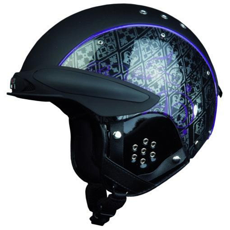 Зимний Шлем Casco SP-3 Bunkerace BLACK-PURPLE (1962.)