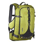 РюкзакРюкзаки для фрирайда<br>Рюкзак для катания на горных лыжах и сноуборде со встроенной защитой спины. <br>Позволяет закреплять лыжи, сноуборд, имеет отделение для лавинного снаряжения.<br><br>Объем: 24 л <br>Вес: 1500 г <br>Длина защиты: 46 см <br>Материал: прочная cordura, водонепроницаемые молнии YKK.