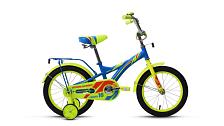 ВелосипедДо 6 лет (колеса 12-18)<br>Велосипед для комфортного катания в городе.<br> <br> Особенности:<br> <br> - Комфортная посадка для прогулок по городу и за городом<br> - Top Tube: сечение верхней трубы<br> - Down Tube: сечение нижней трубы<br> <br> Технические характеристики:<br> <br> Страна производства: Россия<br> Вес: 11,2 кг<br> Рама<br> Материал/тип рамы: Сталь Hi-Ten<br> Амортизация<br> Тип амортизации: Жесткая вилка<br> Вилка: Жесткая стальная<br> Рулевой узел<br> Рулевая колонка: Резьбовая с ограничителем угла поворота<br> Вынос руля: Резьбовой стальной хромированный<br> Руль: Стальной, комфорт<br> Регулируемая высота: Да<br> Тормозная система<br> Тип тормозов: Ножной тормоз<br> Трансмиссия<br> Количество скоростей: 1<br> Каретка: Golden Swallow, стальная<br> Система шатунов: Cтальная хромированная<br> Цепь: KMC C410<br> Колеса<br> Размер колес: 16<br> Втулки: Стальные хромированные<br> Материал и тип ободов: Стальные одностеночные<br> Обода: Крашеные<br> Покрышки: Forward, 16x2,125 (30tpi)<br> Дополнительно<br> Седло: Comfort Kid<br> Крылья: Полноразмерные стальные крашеные<br> Багажник: Стальной с зажимом крашеный<br> Возможность крепления багажника: Есть<br> Звонок: Есть<br> Поддерживающие колеса: Есть<br> Передний и задний катафот: Есть<br> <br> Рекомендуемые аксессуары: