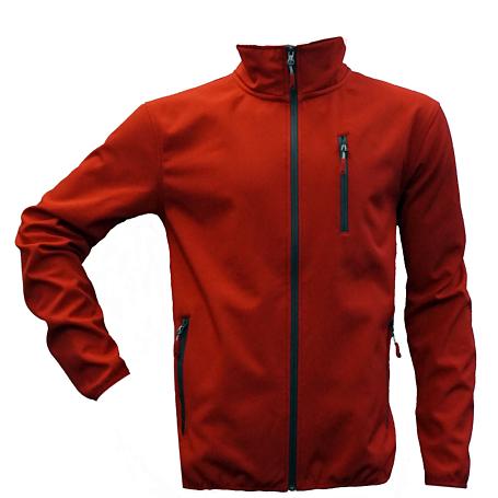 Купить Жакет для активного отдыха GTS 2017-18 HERREN Softshell 2-х слойный red/carbon Одежда туристическая 1366448