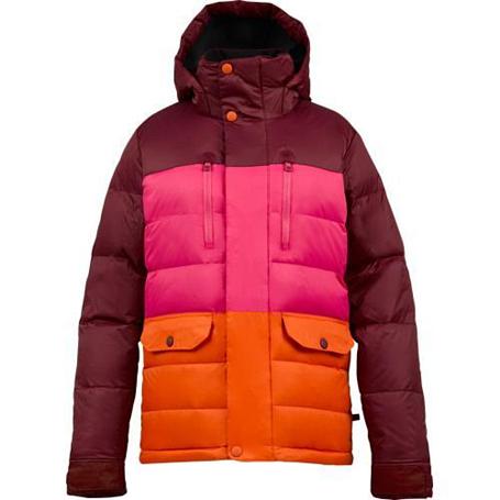 Купить Куртка сноубордическая BURTON 2013-14 WB DANDRIDGE DWN JK SANGRIA COLORBLOCK Одежда 1021722