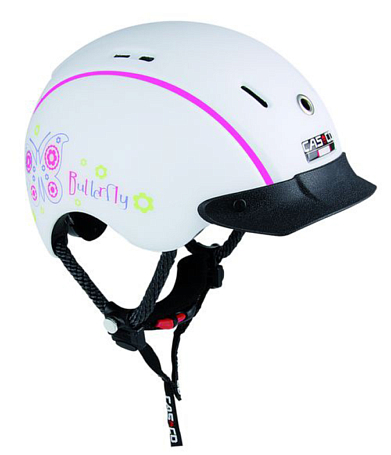 Летний шлем Casco Mini-Generation butterfly white